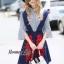 Lady Ribbon Online เสื้อผ้าออนไลน์ขายส่ง Normal Ally เสื้อผ้า,NA10220816 &#x1F389Normal Ally Present Embroidered skirt autumn new collection and striped shirt&#x1F389 (เสื้อเชิตริ้วปักการ์ตูน+ กป.ปักนูนลายกราฟฟิก, มีซับในอย่างดี) thumbnail 5