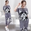 Lady Ribbon Online ขายส่งเสื้อผ้าออนไลน์ เสื้อผ้า Sevy SV12030816 &#x1F389Sevy Two Pieces Of Bulldog Pleat Blouse With Pants Sets thumbnail 2