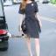 Lady Ribbon Online เสื้อผ้าออนไลน์ขายส่ง Normal Ally เสื้อผ้า,NA13220816 &#x1F389Normal Ally Present Boutique new autumn collection dress and Dimond and pearl brooch&#x1F389 (เดรส + เข็มกลัดเพชรเกสรไข่มุก, มีซับในอย่างดี, มีเชือกเข็มขัด) thumbnail 1