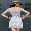 Lady Ribbon Grace Feminine Lace Dress thumbnail 5