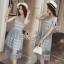 Lady Ribbon Online เสื้อผ้าแฟชั่นออนไลน์ขายส่ง เลดี้ริบบอนของแท้พร้อมส่ง sevy เสื้อผ้า SV12240716 BEST SELLER-Restock &#x1F389Sevy Sleeveless Vintage Hollow Lace Dress thumbnail 4