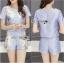 Lady Ribbon Online เสื้อผ้าออนไลน์ ขายส่งของแท้ราคาถููก LR15110716 &#x1F380 Lady Ribbon's Made &#x1F380 Lady Cara Surreal Bejewelled Printed Satin Set thumbnail 1