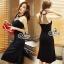Lady Ribbon Online ขายส่งเสื้อผ้าออนไลน์ เสื้อผ้า Sevy SV13030816 &#x1F389Sevy Sexy See-through Mesh Round Neck Dress thumbnail 3