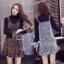 เสื้อผ้าแฟชั่นเกาหลีเสื้อกระโปรง เอี้ยมสายเดี่ยวใส่เข้าชุดกัน thumbnail 1