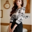Lady Ribbon Online เสื้อผ้าออนไลน์ขายส่ง Lady Ribbon เสื้อผ้า LR13180816 &#x1F380 Lady Ribbon's Made &#x1F380 Lady Kim Smart Casual Check Embroidered Playsuit thumbnail 4