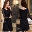 เสื้อผ้าแฟชั่นเกาหลีCliona Black Lace Dress - ลูกไม้นิ่ม เกรดดี thumbnail 1