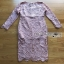 Lady Ribbon Mini Dress เดรสผ้าลูกไม้สีชมพูอ่อนสุดหรู thumbnail 6