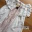 Lady Ribbon Online ขายส่งเสื้อผ้าออนไลน์เลดี้ริบบอน LR20010816 &#x1F380 Lady Ribbon's Made &#x1F380 Lady Nicole Sweet Feminine Off-Shoulder Lace and Polyester Dress thumbnail 4