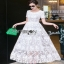 Lady Megan Sweet Feminine White Lace Maxi Dress thumbnail 7