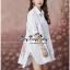 Lady Ribbon Online ขายส่งเสื้อผ้าออนไลน์ Very very pretty VP06030816 Smart Chic Embroidery Cotton shirt Dress thumbnail 4