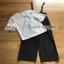 Lady Ribbon Jumpsuit with Belt Set เซ็ตเสื้อลูกไม้ thumbnail 8