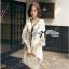 Miami Beach Embroidery Lady Ribbon Chiffon Dress thumbnail 2