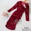 Lovely Beauty Dress เดรสสั้นแฟชั่น เนื้อผ้าเกาหลีกำมะหยี่ thumbnail 5