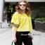 เสื้อปักสีเหลืองผ้าคอตตอนผ้าหนา thumbnail 1