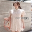 Lady Feona Feminine Collared Lace Shirt Dress thumbnail 3