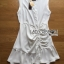 Lady Ribbon Online ขายส่งเสื้อผ้าออนไลน์ Lady Ribbon พร้อมส่ง LR15040816 &#x1F380 Lady Ribbon's Made &#x1F380 Lady Megan Brody Minimal Chic White Drape Peplum Dress thumbnail 8