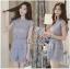 Lady Ribbon Online ขายส่งเสื้อผ้าออนไลน์ Lady Ribbon พร้อมส่ง LR19040816 &#x1F380 Lady Ribbon's Made &#x1F380 Lady Jessie Minimal Feminine Lace Sleeveless Top and Lace Shorts Set เซ็ตเสื้อแขนกุด thumbnail 3