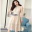 Classic Elegant Lace Dress Lady Ribbon เดรสผ้าคลาสสิก thumbnail 3