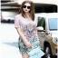 Chinese Style Printed Shirt Dress Lady เชิ้ตเดรส thumbnail 1