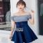 Blue Cotton and Denim Lady Ribbon Dress เดรสผ้าคอตตอน thumbnail 2