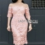 Lady Ribbon Grace Feminine Lace Dress thumbnail 3