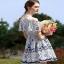 ผ้าลูกไม้ฉลุสวย ตัดต่อผ้าตาข่าย thumbnail 5