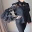 Lady Ribbon Isabella Flared-Sleeve Ribbon Lace Blouse thumbnail 1