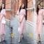 เสื้อผ้าลูกไม้กระโปงแฟชั่นเกาหลีสีชมพู thumbnail 1