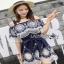 Lady Ribbon Katy Bohemian Mini Dress มินิเดรสเปิดไหล่ thumbnail 2