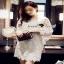 Floral White Lace Dress เรียบหรูสวยหวานด้วยเดรสทรงแขนบาน thumbnail 3