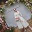 2Sister Made, White Elegant Beauty Maxi Dress แม็กซี่เดรสลุคเรียบหรู thumbnail 3