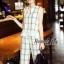 Lady Ribbon Online เสื้อผ้าออนไลน์ขายส่ง Normal Ally เสื้อผ้า NA12180816 &#x1F389Normal Ally Present casual summer scoth set&#x1F389 (เสื้อ + กางเกง , มีซับใน) thumbnail 2