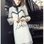 Lady Ribbon Mini Dress เดรสผ้าลูกไม้สีขาว-ดำ thumbnail 2