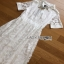 Lady Ribbon White Lace Midi Shirt Dress thumbnail 9
