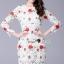 SS14010916 Seoul Secret Say's... High Fashion D&G Red Floara Lace Dress Material : สวยหรูดู thumbnail 2