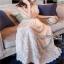 Lady Ribbon Crepe Maxi Dress เดรสผ้าลูกไม้ thumbnail 4