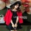 Lady Ribbon Dress and Red Outer Set เซ็ตเดรสสีดำ thumbnail 4