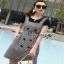 Lady Ribbon Black T-Shirt Dress Set ขายเซ็ตเสื้อยืด thumbnail 2