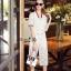 Lady Ribbon Online เสื้อผ้าออนไลน์ขายส่ง Normal Ally เสื้อผ้า,NA12220816 &#x1F389Normal Ally Present Gucci new autumn collection 2016 V-neck shirt and wide leg pant lace set&#x1F389 (เสื้อ+ กางเกงผ้าลูกไม้ , มีซับในอย่างดีทั้งชุด) thumbnail 2