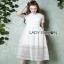 Lady Ribbon Babara Sweet Graphic White Lace Dress thumbnail 2