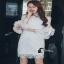 ชุดเดรสเกาหลีสีขาวโบว์ thumbnail 4