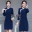 Dress คอจีน ทรงสวยเนื้อผ้าคอตตอนผสมโพลีเอสเตอร์ thumbnail 5