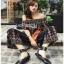 Jumpsuit with Silk Satin Belt Lady Ribbon จัมป์สูทผ้าเครป thumbnail 5