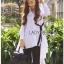 Lady Ribbon Online เสื้อผ้าออนไลน์ขายส่ง Lady Ribbon เสื้อผ้า LR12180816 &#x1F380 Lady Ribbon's Made &#x1F380 Lady Lauretta Minimal Chic Poplin Cotton Long Shirt with Ribbon เชิ้ตยาวผ้า thumbnail 5