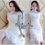 Lady Ribbon Online เสื้อผ้าแฟชั่นออนไลน์ขายส่ง เลดี้ริบบอนของแท้พร้อมส่ง Veryverypreppy เสื้อผ้า VP05240716 Florals White Elegance Korea Dress thumbnail 2