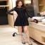 เสื้อผ้าแฟชั่นเกาหลีCliona Black Lace Dress - ลูกไม้นิ่ม เกรดดี thumbnail 5