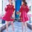 VP04310816 Red Layer Off-Shoulder Short Sleeves MiNi Dress มินิเดรสทรงเชิตสีแดงสวย thumbnail 3