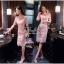 Lady Ribbon Online เสื้อผ้าออนไลน์ ขายส่ง VP02110716 Luxury Embroidered Flowers Lace Dress thumbnail 2