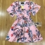 Lady Ribbon Online ขายส่ง เสื้อผ้าออนไลน์ ของแท้ ราคาถูกพร้อมส่ง เลดี้ริบบอน LR04140716 &#x1F380 Lady Ribbon's Made &#x1F380 Gucci Sweet Natural Floral Printed Pink Dress thumbnail 6