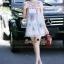 Lady Ribbon Online เสื้อผ้าออนไลน์ขายส่ง Normal Ally เสื้อผ้า NA09180816 &#x1F389Normal Ally Present elegance embroider flower asian organza style dress&#x1F389 thumbnail 4